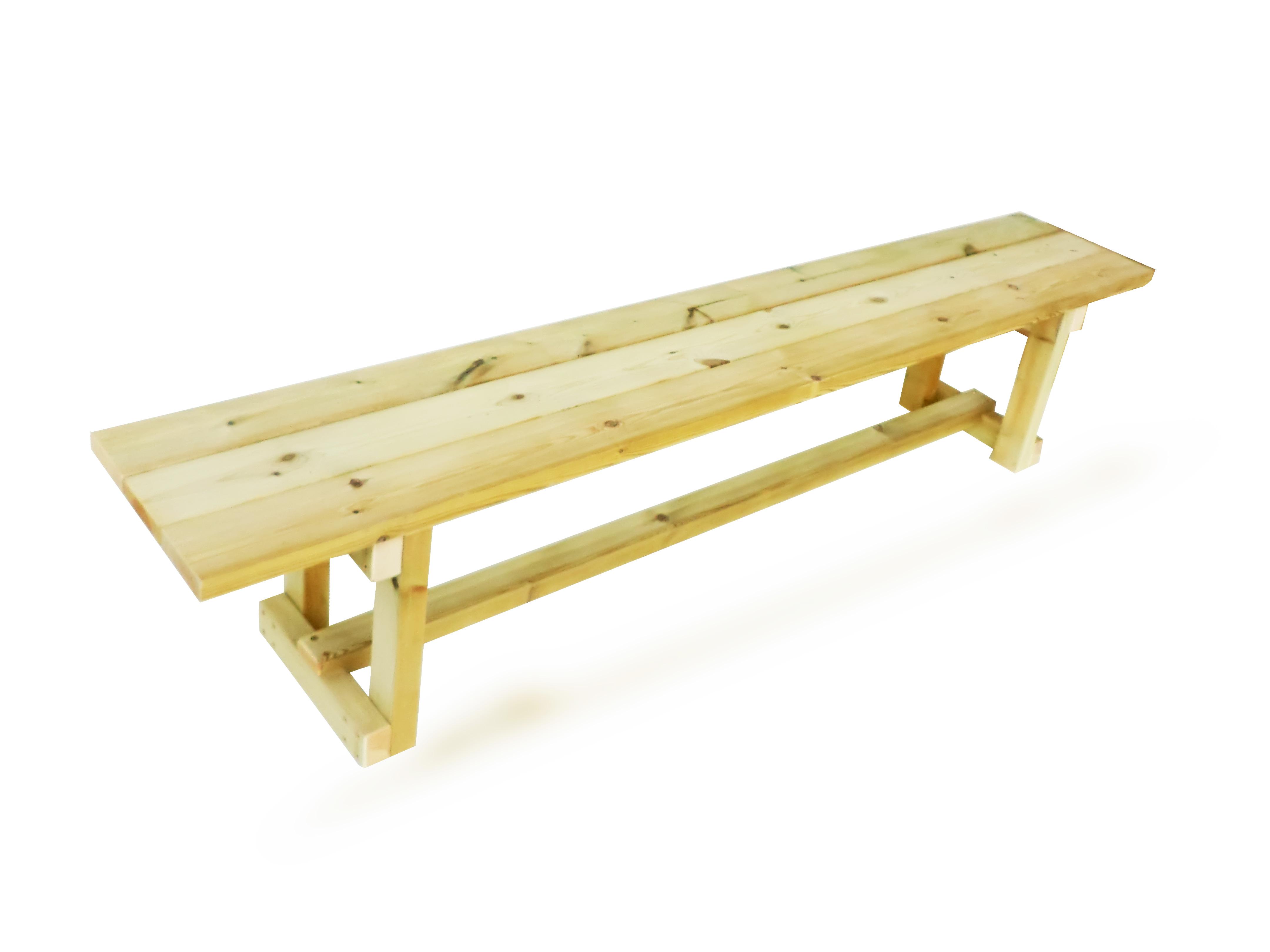 ספסל עץ דגם עוז ללא משענת