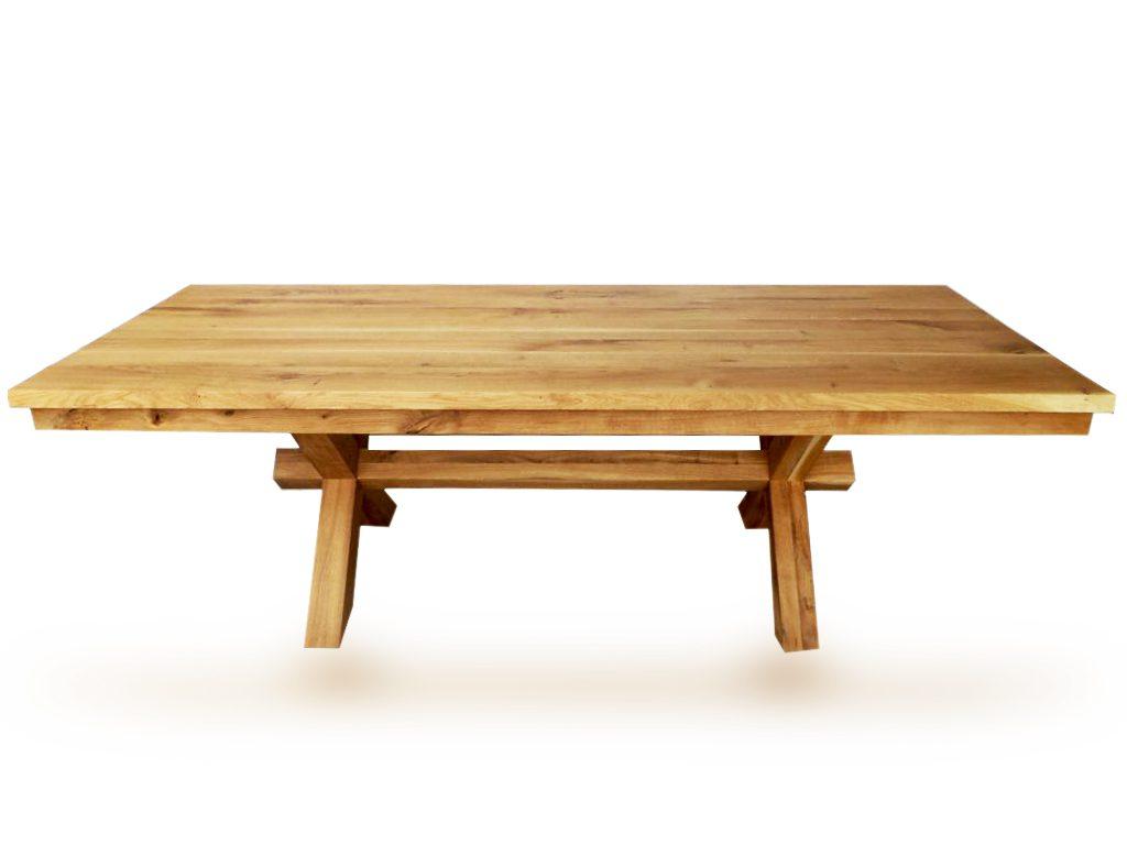 שולחן גושני מעץ אלון