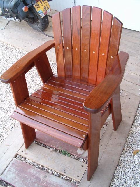 כיסא עבודת יד מעץ איפאה